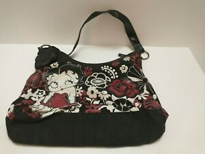 betty boop purse handbag red and white flowers