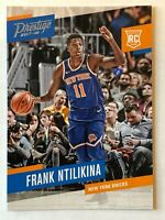 Frank Ntilikina rookie card 2017-18 Panini Prestige #158 New York Knicks