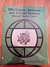 1981 Ford Engine Emission and Related Systems except Escort-Lynx Manual