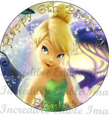 19cm Round Tinkerbell Edible Cake Topper