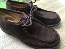 Womens Clarks Size 7.5 M Brown Suede Lace Up Shoes