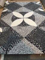 John Lewis Lindsey lang designer Patterned white grey black Bantam Rug