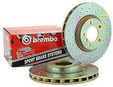 BREMBO  DRILLED FRONT BRAKE DISCS SET VENTED 255MM  FITS TOYOTA CARINA E 92-97