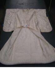 vintage authentic KIMONO white on white SILK beautiful condition