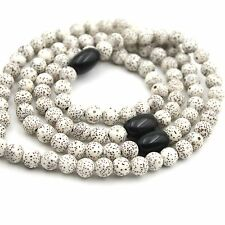 Star&Moon Bodhi Seed Black Gem Tibet Buddhist 108 Prayer Beads Mala Necklace