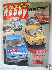 HOBBY 1962-17,TEST FORD,GLAS 1004,RENAULT 8,SIMCA 1000,ZUNDAPP  GS75,2 CV SAHARA