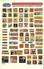 City Classics-HO Scale -- #501-01 – Restaurant Signs