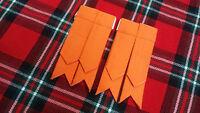 TC Men's Kilt Sock Flashes Orange Tartan/Scottish Kilt Hose Flashes Orange