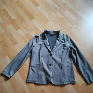 Street one 40 / 42 Damen Jacke Mantel schwarz weiß Langarm camouflage