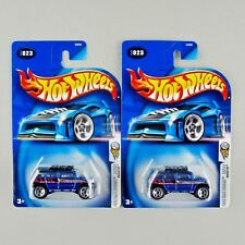 Hot Wheels ROCKSTER 2004 First Editions *BLUE w/ CHROME and GRAY RIBBED GRILLES*