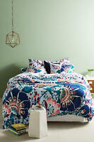 Anthropologie FULL Duvet and 2 Shams Liberty London Feather Bloom Bedding Cover