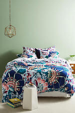 Anthropologie QUEEN Duvet Set 2 Euro Shams Liberty London Feather Bloom Bedding