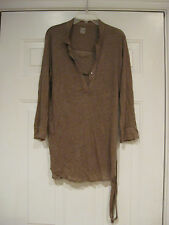 MAJESTIC PARIS DOUBLE LAYER TIE WAIST LONG SLEEVE TOP SIZE 1