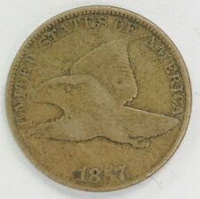 1857 US Mint Flying Eagle One Cent Penny Coin