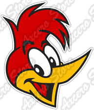 "Woody Woodpecker Head Funny Cartoon Car Bumper Vinyl Sticker Decal 4""X5"""