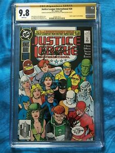 Justice League International #24 - DC- CGC SS 9.8 - Signed by Maguire, Templeton