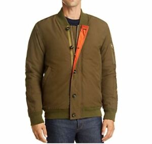 Scotch & Soda Olive Bomber Jacket Men's Medium Lined $275