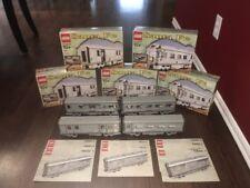 LEGO Train 10022 & 10025 Santa Fe Car Set (qty 4) Original Boxes & Instructions