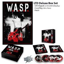 Re-Idolized W.A.S.P WASP Reidolized Box set w/ 2cd dvd blu ray patch flag