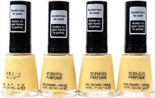 4 Revlon Premium Scented Perfume Nail Enamel Polish Lemon Meringue Yellow Color