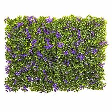 """Nearly Natural 6153-S12 Clover Mat (Set of 12)- 6"""" x 6""""- Purple/Green New"""