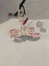 Pinza de Pelo Pasador Pasador de pelo Cristal Brillante Bebé Rosa de Cristal de Plata Elegante xmun