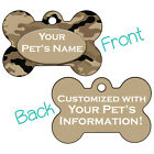 Beige Desert Camo Double Sided Pet Id Dog Tag Personalized for Your Pet