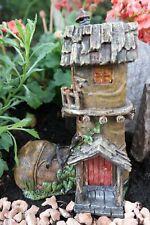 Gartenfigur Feenhaus Schuh Haus Feengarten Fee Elfe Figur Garten