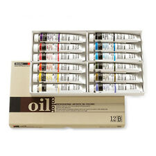 Oil Colour Paint Set Shinhan Professional 12 Colours 50ml B Tube Artist Drawing