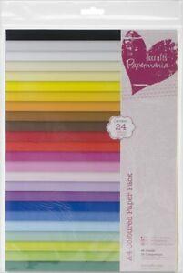 Papermania - Confezione da 48 Fogli Colorati, Formato A4, Multicolore