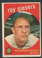 1959 Topps #340 Roy Sievers EX/EX+ Senators 23806