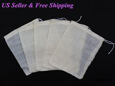 100pcs 3x4 Cotton Muslin Drawstring Reusable Bags Bath Soap Herbs Tea Packing US
