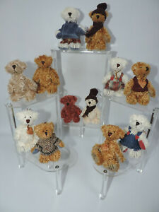 Miniature Teddy Bear Ornaments - 12 pc. Assorted Set