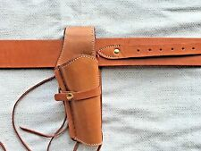 Holster and Belt Smooth Right Hand Pure Beautiful Mexican Leather TAN  70200