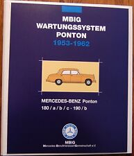 MBIG Wartungssystem Mercedes Ponton  180a/b/c 190/b W120 W121 Benziner