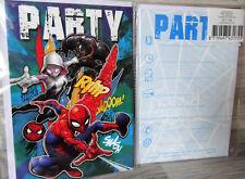 5 Einladungskarten inkl.Umschläge--Spiderman-- Party--Kinder Geburtstag--Marvel