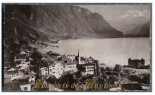 Suisse, Souvenir de Montreux  Vintage print.  Photomécanique  7,5x13  Circ