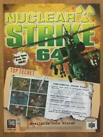 Nuclear Strike 64 Nintendo 64 1999 Vintage Poster Ad Art Official Promo Rare