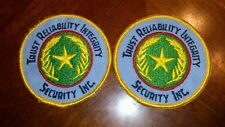 """Lot of 2 - 3"""" Tri Trust Reliability Integrity Security Inc. Patch Free Ship"""