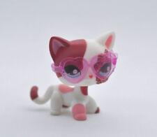 Pet Short Hair Cat + Glasses Child Girl Boy Figure Littlest Toy Loose LPS807