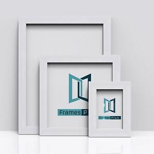 WHITE Picture Frames Square Photo Modern Poster Frame A1 A2 A3 A4 A5