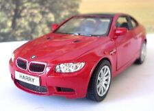 PERSONALISED PLATE Burgundy BMW M3 Coupe Boys Dad Toy Car Model Present Gift New