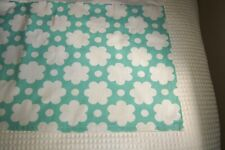 Pottery Barn Teen Turquoise and White Contemporary Floral Full Tailored Bedskirt