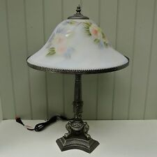 Kaldun & Bogle Glass Peace Rose Table Lamp