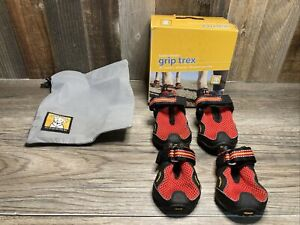 Ruffwear Grip Trex Red Dog Boot Shoes Size Small