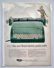 1956 Royal Electric Typewriter Green Vintage Print Ad