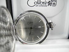 Movt. W/Date New Reduced Colibri Silvertone Pocket Watch Japan