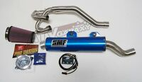 HMF Full Exhaust Pipe Blue + EFI Optimizer + K&N Filter Yamaha Raptor 700 06-14