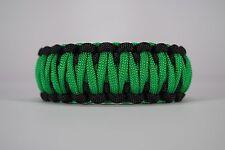 550 Paracord Survival Bracelet King Cobra Black/Green Camping Tactical Military
