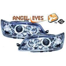 Par faros delanteros TUNING PEUGEOT 306 93-97 cromados con anillos ANGEL E
